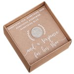 Rustic Country Lucky Six Pence Keepsake