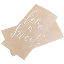 Rustic Country 'Love Is Sweet' Paper Treat Bags - 19.5cm