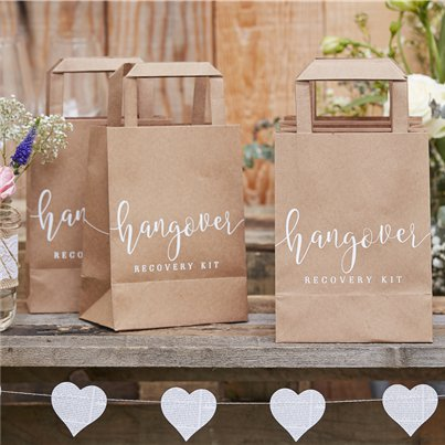 Rustic Country Hangover Cure Bags - 26cm