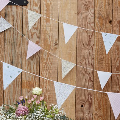 Rustic Country Floral Bunting - 10m