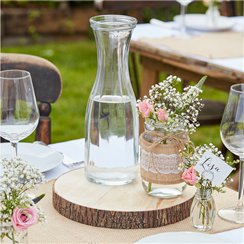 Rustic Country Wooden Slice Centerpiece - 25cm