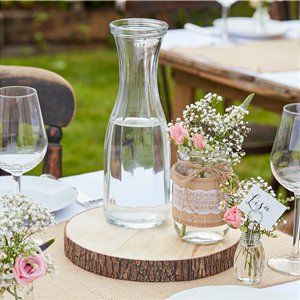 Rustic Country - Wooden Slice Centerpiece - 25cm