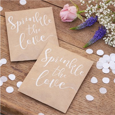 Rustic Country 'Sprinkle The Love' Tissue Confetti - 7g Bag