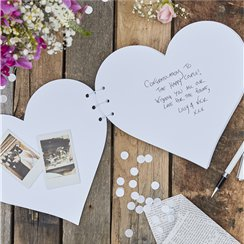 Rustic Country Heart Guestbook - 24cm