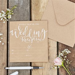 Rustic Country Wedding Reception Invitations