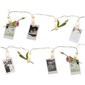Rustic Country Peg LED String Lights - 3m