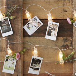 Rustic Country Peg LED String Lights -3m