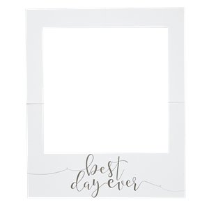 Rustic Country 'Best Day Ever' Giant Polaroid Photo Prop Sign - 82cm