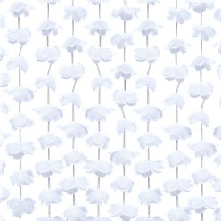 Rustic Country White Floral Curtain Backdrop