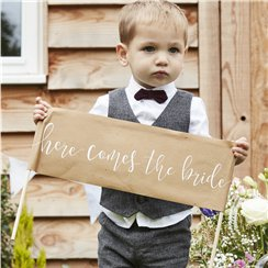 Rustic Country 'Here Comes The Bride' Sign