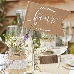 Rustic Country Table Number Flags