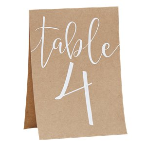Rustic Country Table Number Cards
