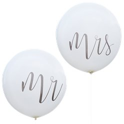 Rustic Country Mr & Mrs Giant Balloons - 36