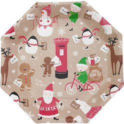Santa and Friends Paper Plates - 23cm