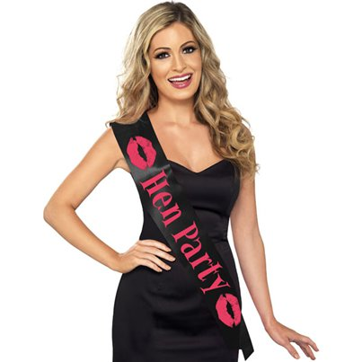 'Hen Party' Black Sash