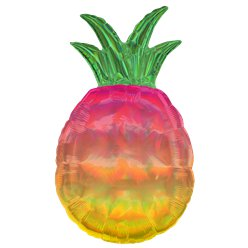 "Iridescent Pineapple SuperShape Balloon - 31"" Foil"
