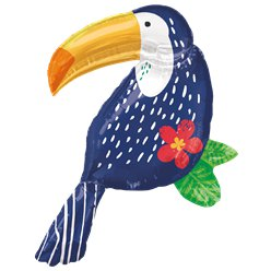 "Tropical Jungle Toucan SuperShape Balloon - 37"" Foil"