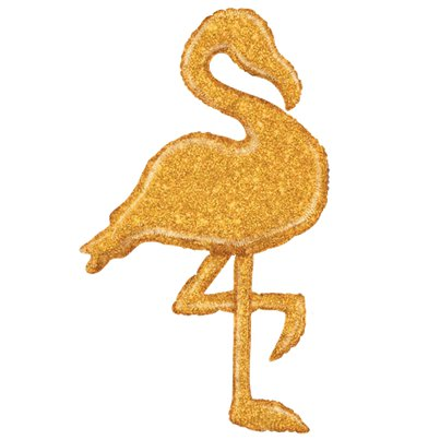 Holographic Gold Flamingo Balloon - 53