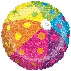 Holographic Beach Ball Balloon - 18