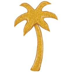 5ft Gold Glitter Palm Tree Foil Balloon