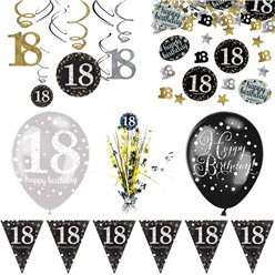18th Sparkling Celebration Decoration Kit - Deluxe