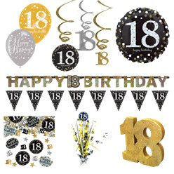 18th Sparkling Celebration Decorating Kit - Premium