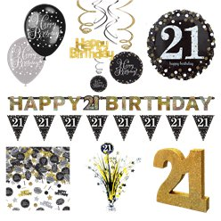 21st Sparkling Celebration Decoration Kit - Premium