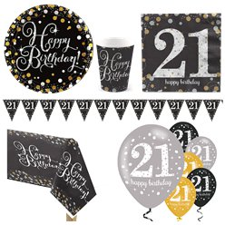 Sparkling Celebration 21st Birthday Party Pack - Deluxe Party Pack For 8