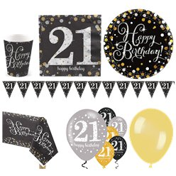 Sparkling Celebration 21st Birthday Party Pack - Deluxe Party Pack For 16