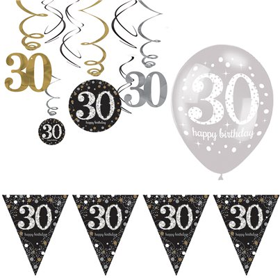 30th Sparkling Celebration Decoration Kit - Value