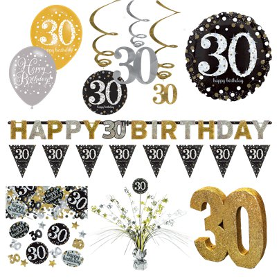 30th Sparkling Celebration Decorating Kit - Premium