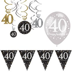 40th Sparkling Celebration Decoration Kit - Value