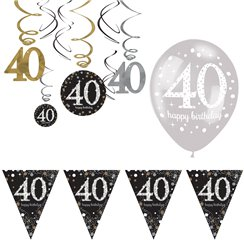 40th Birthday Decorations Banners