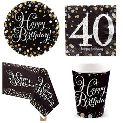 Sparkling Celebration 40th Birthday Party Pack