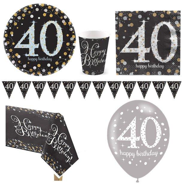 Sparkling Celebration 40th Birthday Party Pack