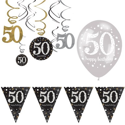 50th Sparkling Celebration Decoration Kit - Value