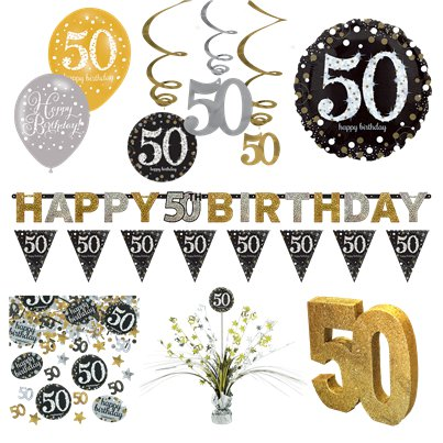 50th Sparkling Celebration Decoration Kit - Premium