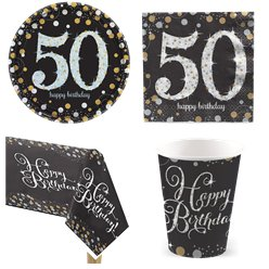 Sparkling Celebration 50th Birthday Party Pack - Value Pack For 8