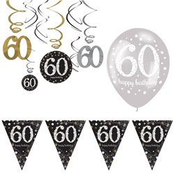 60th Sparkling Celebration Decoration Kit - Value