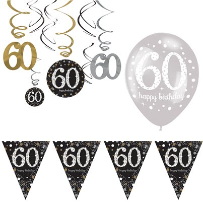 60th Sparkling Celebration Decoration Kit