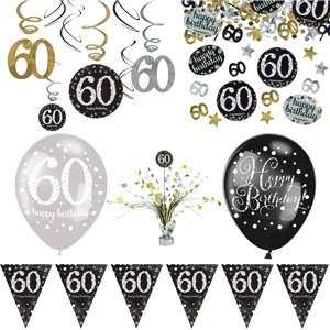 60th Sparkling Celebration Decoration Kit - Deluxe