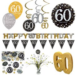 60th Sparkling Celebration Decorating Kit - Premium