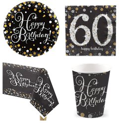 Sparkling Celebration 60th Birthday Party Pack - Value Pack For 8