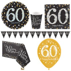 Sparkling Celebration 60th Birthday Party Pack - Deluxe Party Pack For 8