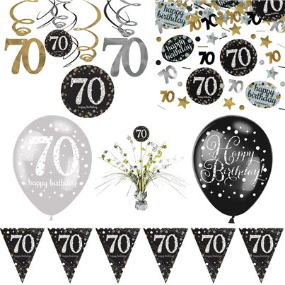 70th Sparkling Celebration Decoration Kit - Deluxe