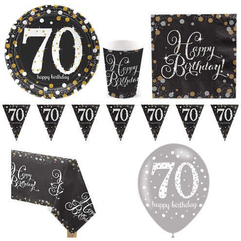 Sparkling Celebration 70th Birthday Party Pack