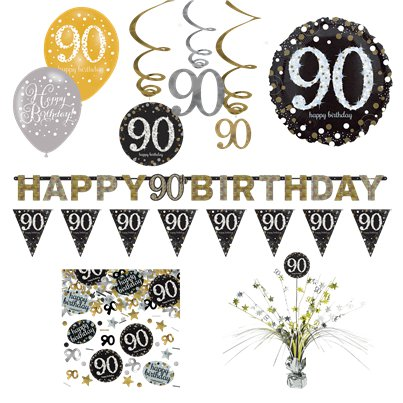 90th Sparkling Celebration Decorating Kit - Premium