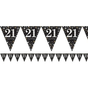 21st Sparkling Celebration Decoration Kit - Deluxe