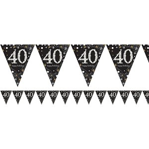 40th Sparkling Celebration Decoration Kit - Deluxe