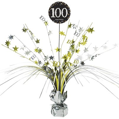 Sparkling Celebration Age 100 Table Centrepiece - 46cm